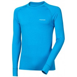 Progress Eco E NDR modrá pánské triko dlouhý rukáv bambus