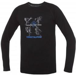 Direct Alpine Furry Long 1.0 black (activity) pánské triko dlouhý rukáv Merino