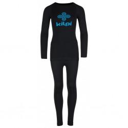 Kilpi Nathaniel-JB černá dětské termoprádlo set triko dlouhý rukáv + spodky