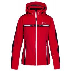 Kilpi Hattori-W červená dámská nepromokavá zimní lyžařská technická bunda
