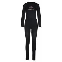 Kilpi Caroline-W černá dámské termoprádlo set triko dlouhý rukáv + spodky