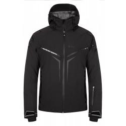 Kilpi Turnau-M černá pánská nepromokavá zimní lyžařská bunda1