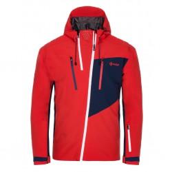 Kilpi Thal-M červená pánská nepromokavá zimní lyžařská bunda1