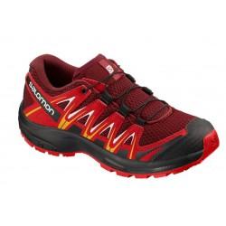 Salomon XA Pro 3D J red dahlia/barbados cherry 406447 dětské nízké prodyšné boty