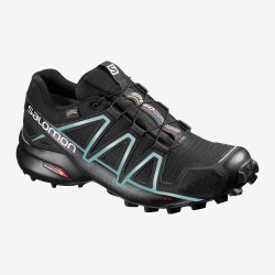 Salomon Speedcross 4 GTX W black/metallic bubble 383187 dámské nepromokavé běžecké boty