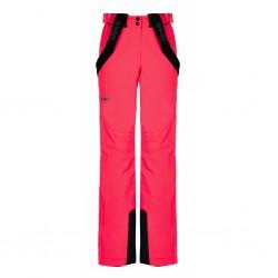Kilpi Elare-W růžová dámské nepromokavé zimní lyžařské kalhoty