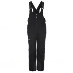 Kilpi Charlie-J černá dětské nepromokavé zimní lyžařské kalhoty s laclem