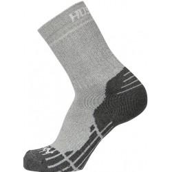 Husky All Wool sv. šedá vysoké trekové ponožky Merino vlna