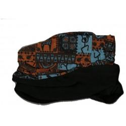 Novia multifunkční šátek fleece 02 modrooranžový