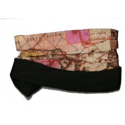 Novia multifunkční šátek fleece 05 hnědooranžový zimní tubus