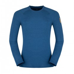 Zajo Bjorn Merino T-shirt LS poseidon blue pánské triko dlouhý rukáv Merino vlna