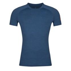 Zajo Bjorn Merino T-shirt SS poseidon blue pánské triko krátký rukáv Merino vlna