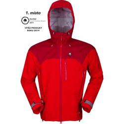 High Point Protector Jacket 5.0 červená red dahlia pánská nepromokavá bunda
