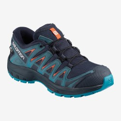Salomon XA Pro 3D CSWP J 406433 navy blazer/mallard blue dětské nízké nepromokavé boty