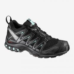 Salomon XA Pro 3D W black/magnet/fair aqua 393269 dámské prodyšné běžecké boty