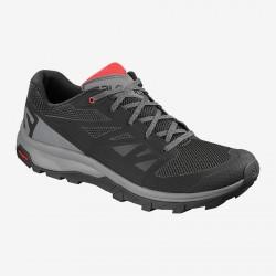 Salomon OUTline black/quiet shade/high risk red 404775 pánské nízké prodyšné boty