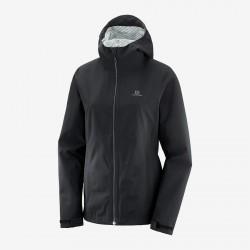 Salomon La Cote Flex 2.5L JKT W black C12387 dámská nepromokavá bunda 2,5 vrstvá