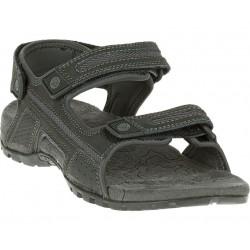 Merrell Sandspur oak black granite J276754C pánské kožené outdoorové sandály
