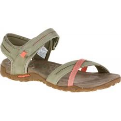 Merrell Terran Cross II W putty J55300 dámské kožené sandály