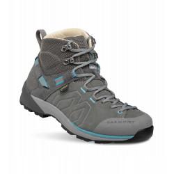 Garmont Santiago GTX W grey/turquoise dámské nepromokavé kožené trekové boty