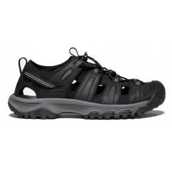 Keen Targhee III  Sandal M black/grey pánské kožené outdoorové sandály