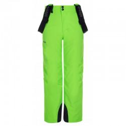 Kilpi Methone-JB zelená dětské zimní lyžařské kalhoty