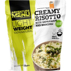 Adventure Menu Lightweight Krémové rizoto s chřestem a brokolicí 600 g sušené jídlo vegan