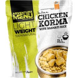 Adventure Menu Lightweight Kuře Korma s rýží basmati velká porce 600 g sušené jídlo