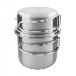 Tatonka Handle Mug 500 set nerezový hrnek s víkem a sklopnými uchy