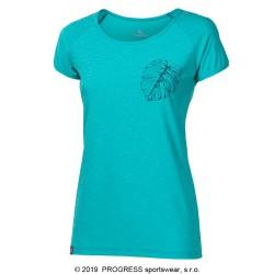 Progress Pacifica sv. zelený melír dámské triko krátký rukáv