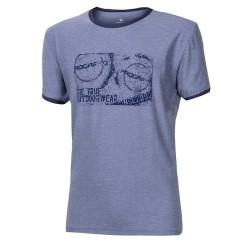 Progress Maverick modrý melír pánské triko krátký rukáv