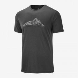 Salomon Agile Graphic Tee M black C12868 pánské triko krátký rukáv