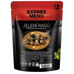 Expres Menu Jelení Ragú 600 g 2 porce sterilované jídlo na cesty, bez přílohy