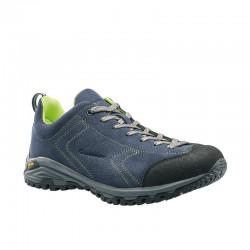 Garsport Heckla blue/lime pánské nízké prodyšné kožené boty
