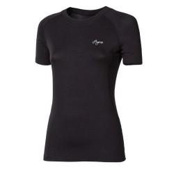 Progress Eco E NKRZ černá dámské tričko krátký rukáv bambus