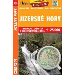 SHOCart 723 Jizerské hory 1:25 000 turistická, cykloturistická, lyžařská mapa