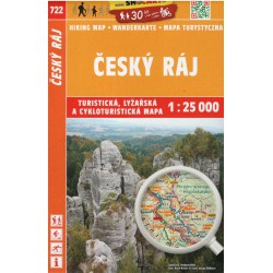SHOCart 722 Český ráj 1:25 000 turistická, cykloturistická, lyžařská mapa