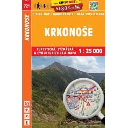 SHOCart 721 Krkonoše 1:25 000 turistická, cykloturistická, lyžařská mapa