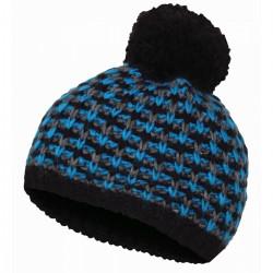 Husky Cap 9 modrá-černá dámská pletená zimní čepice s fleecem