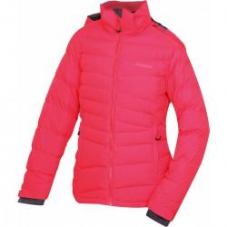 Husky Heral L jemná červená dámská zimní péřová bunda Huskytech 7000