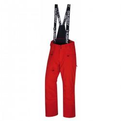 Husky Gilep M výrazně červená pánské nepromokavé zimní lyžařské kalhoty HuskyTech 15000