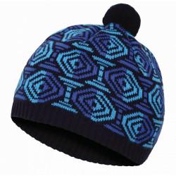 Husky Cap 6 modrá pánská pletená zimní čepice s fleecem