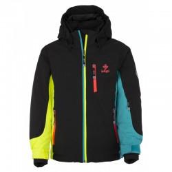 Kilpi Sawa-JG černá dětská nepromokavá zimní lyžařská bunda SIBERIUM 10000 2L STRETCH