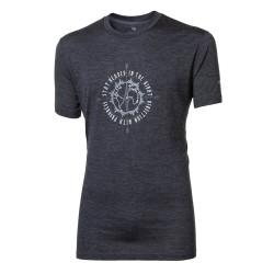 Progress Sullan Compass tmavě šedý melír pánské triko dlouhý rukáv merino vlna