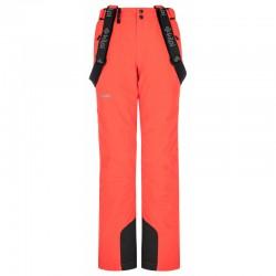 Kilpi Elare-W korálová dámské nepromokavé zimní lyžařské kalhoty 10000