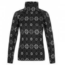 Kilpi Jannu-W černá dámské funkční triko dlouhý rukáv 100% Merino vlna