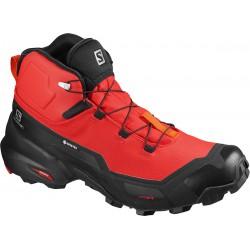 Salomon Cross Hike Mid GTX goji berry black red orange 411187 pánské nepromokavé boty