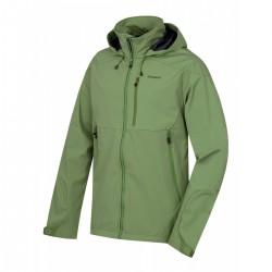 Husky Sauri M tmavě zelená pánská nepromokavá softshellová bunda ExtendPro Softshell 15000