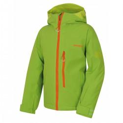 Husky Gomez K zelená dětská rostoucí nepromokavá zimní lyžařská bunda HuskyTech 15000