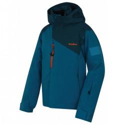 Husky Gonzal K modrá dětská rostoucí nepromokavá zimní lyžařská bunda HuskyTech 15000